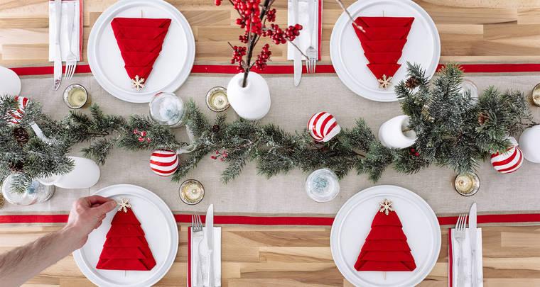 mesa de invierno sencillo