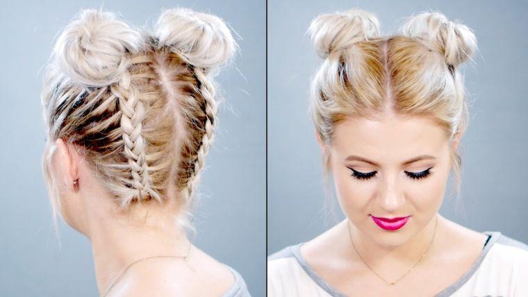 peinados para media melena buns