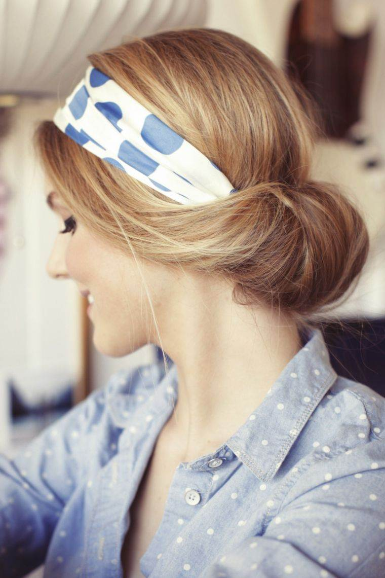 peinados para media melena cinta