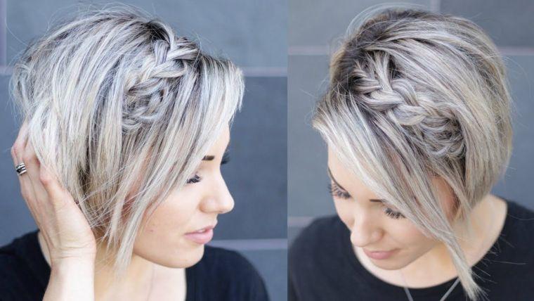 peinados para media melena diademas