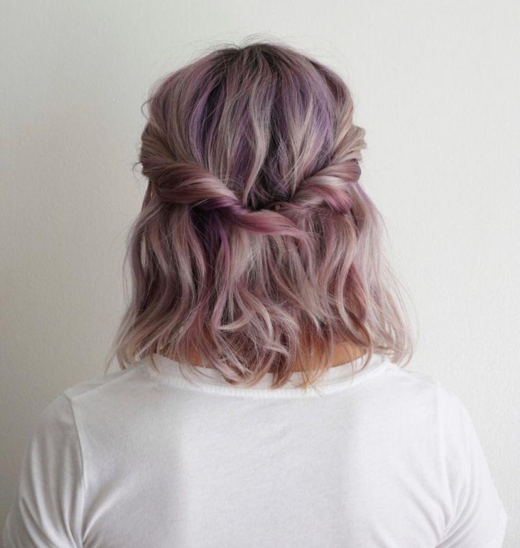 peinados para media melena enrollado