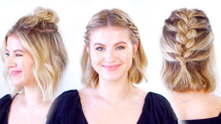 peinados para media melena estilos