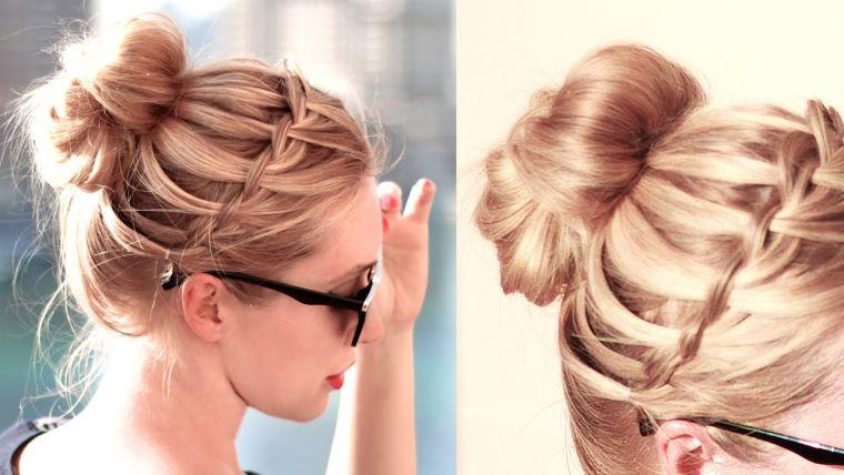 peinados para media melena facil
