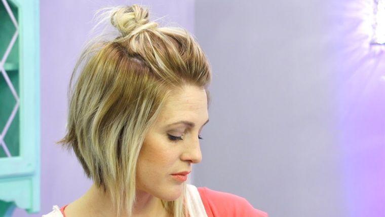 peinados para media melena moñop