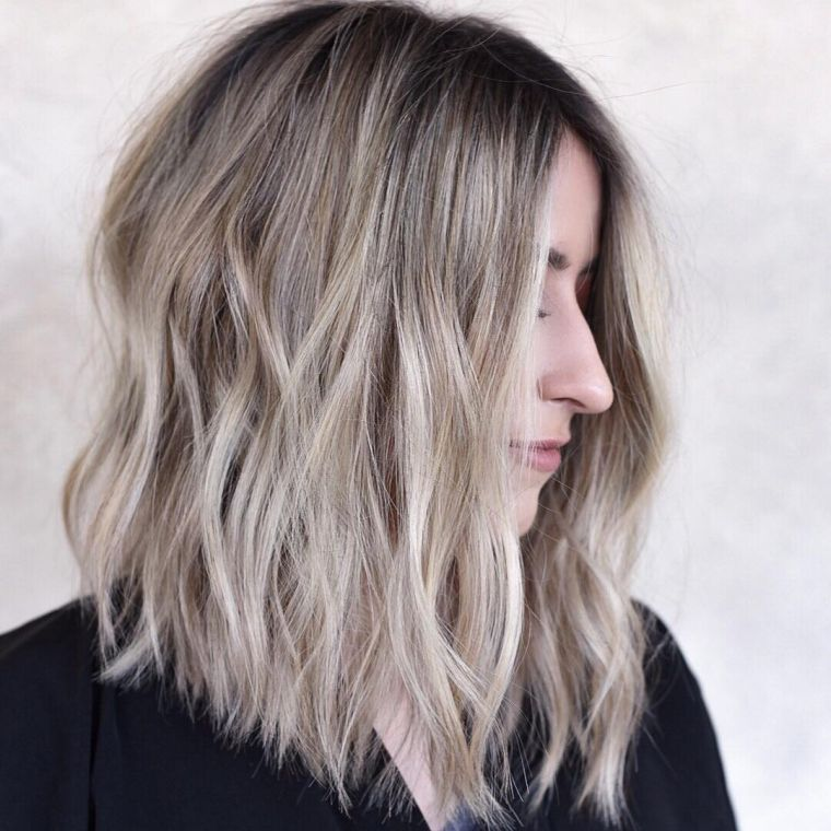 peinados para media melena ondas
