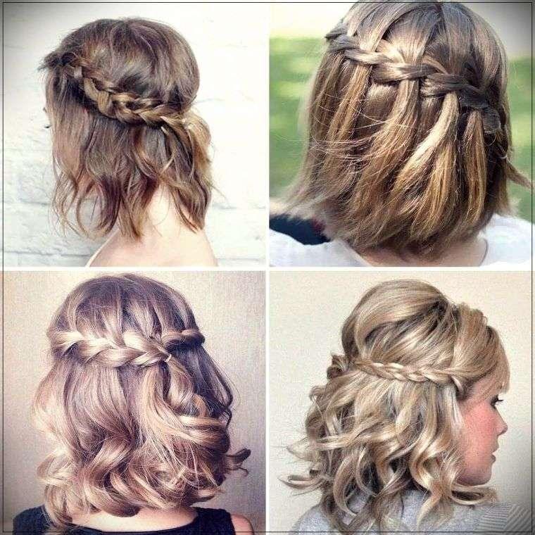peinados para media melena trenzas