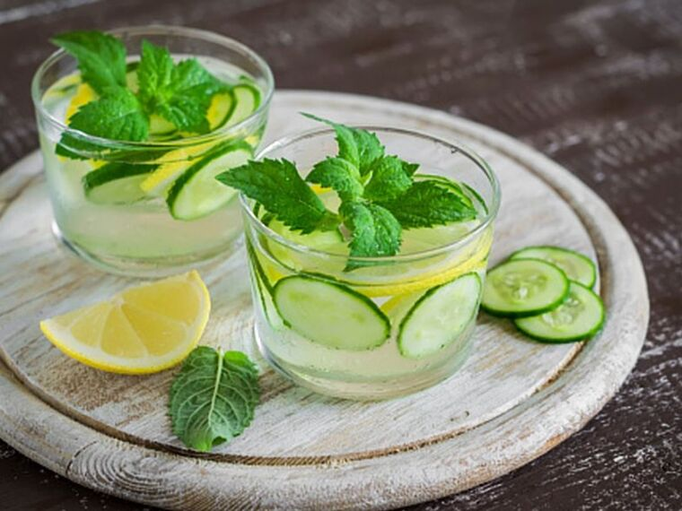 beneficios del pepino refrescante