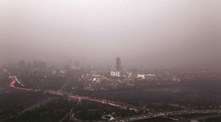 contaminación del aire humo
