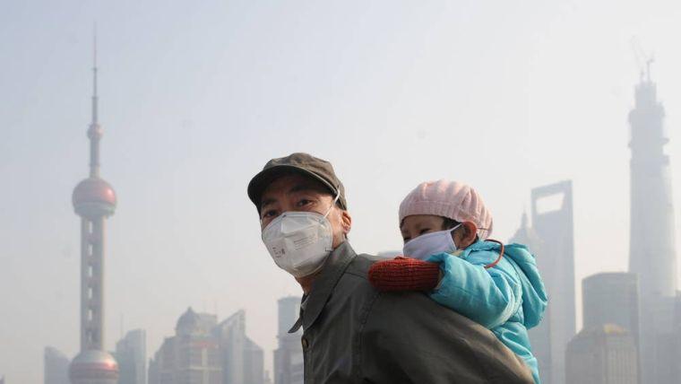 contaminación del aire mascarilla