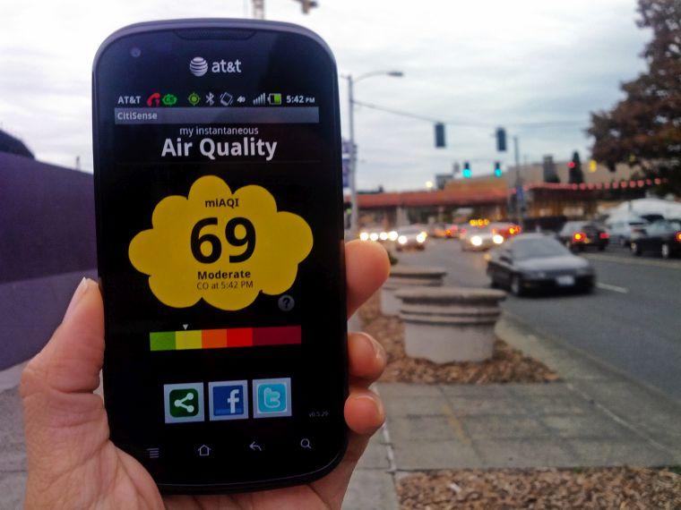contaminación del aire monitor