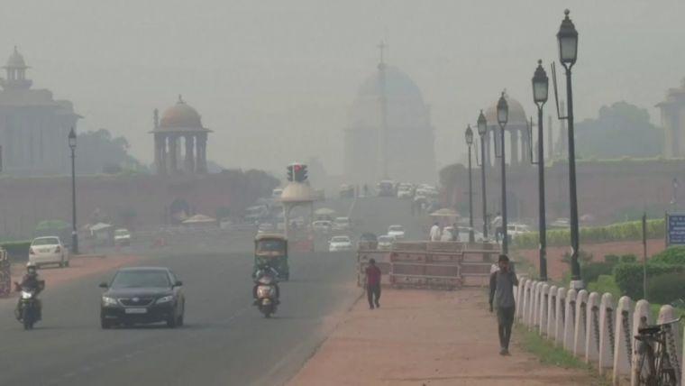 contaminación del aire puente