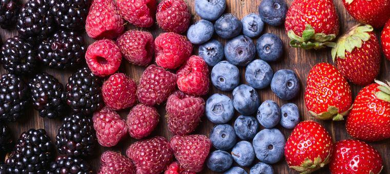 frutas y verduras bayas