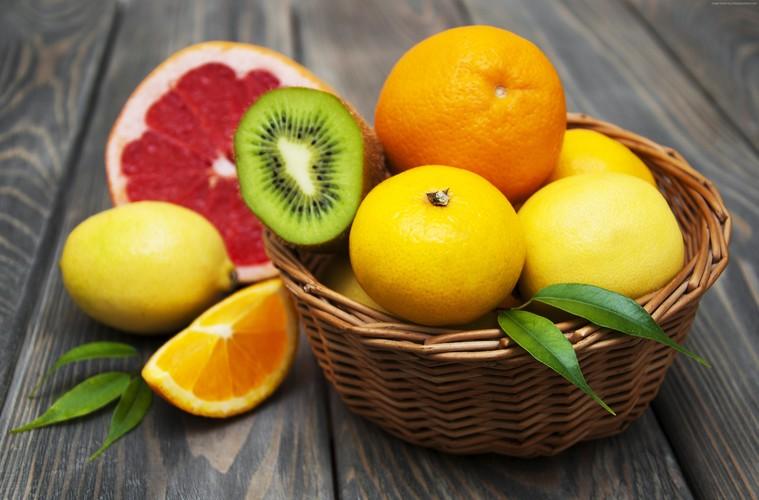 frutas y verduras citricos
