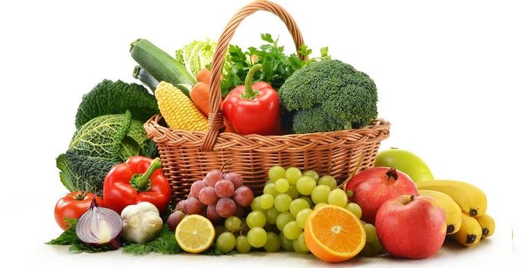 frutas y verduras dieta