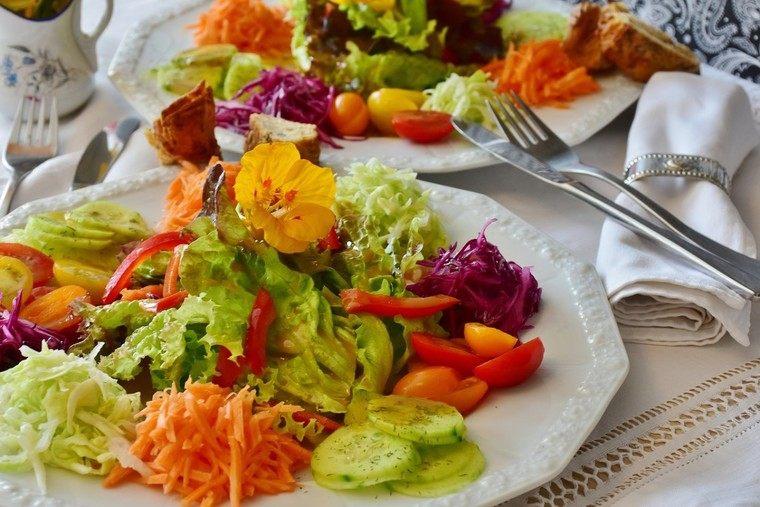frutas y verduras ensalada