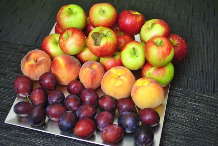 frutas y verduras manzanas