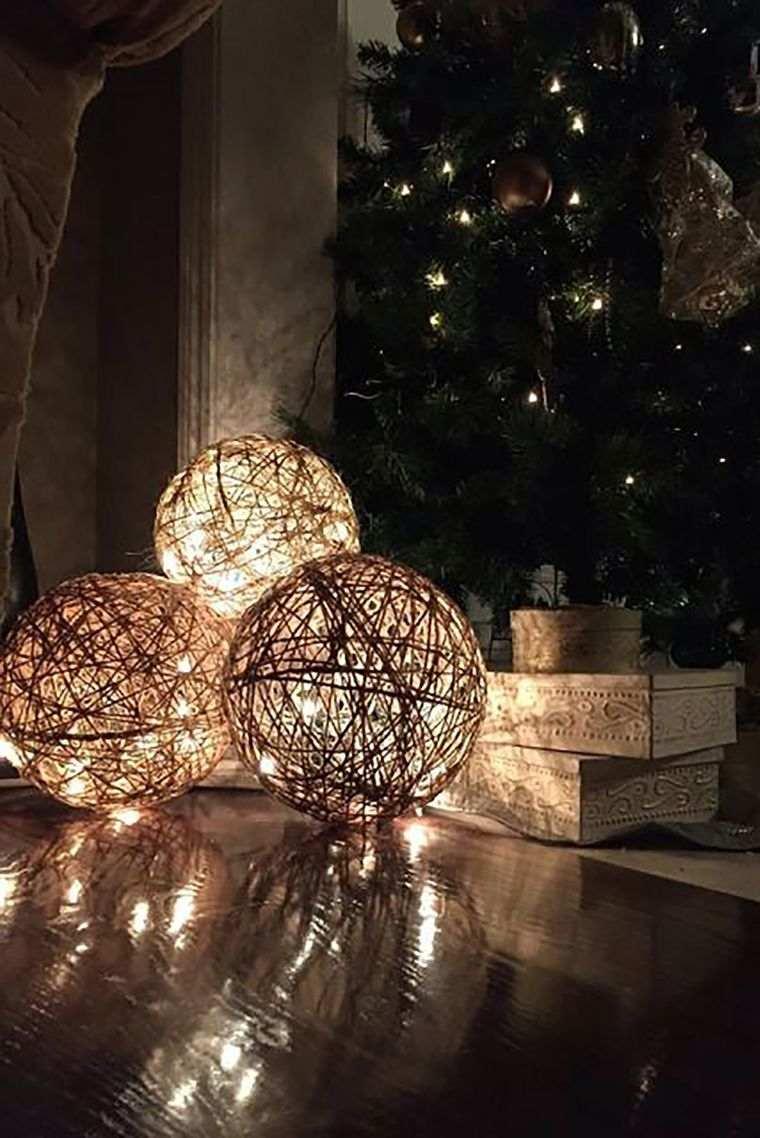 iluminación navideña bolas