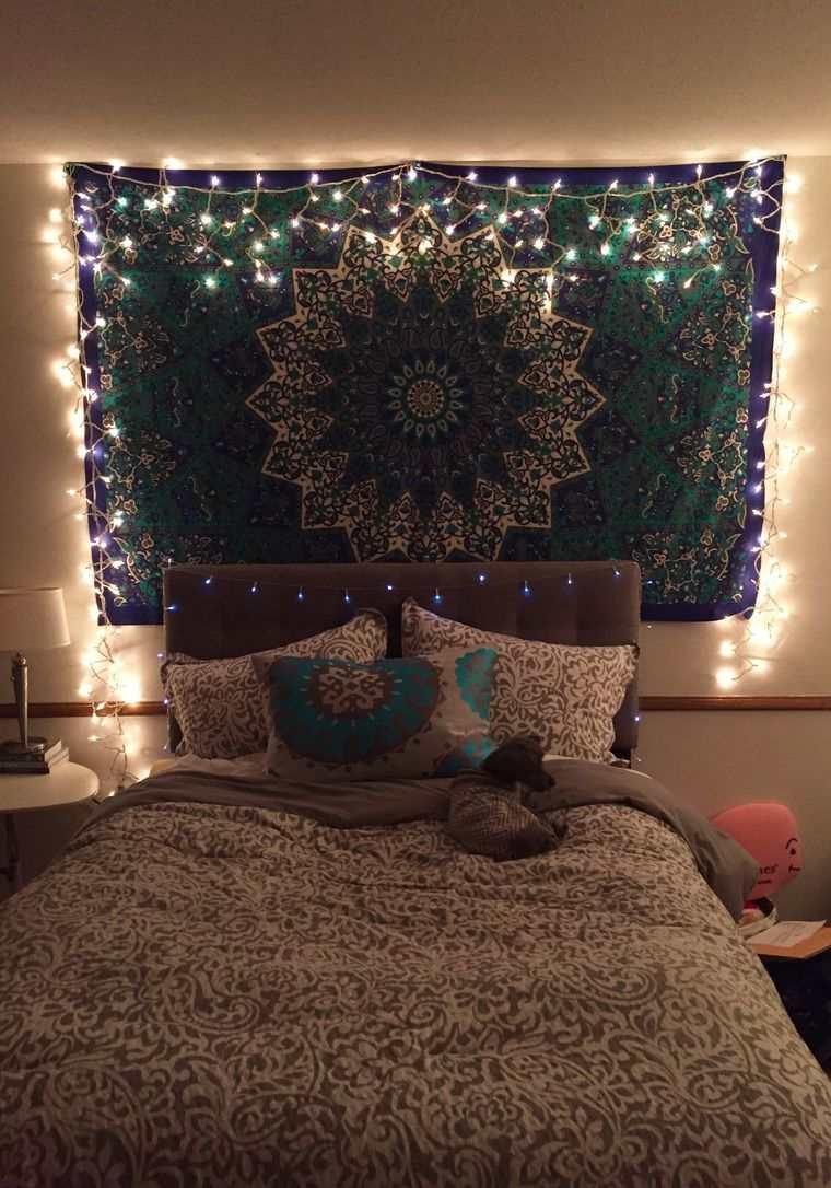 iluminación navideña cuarto