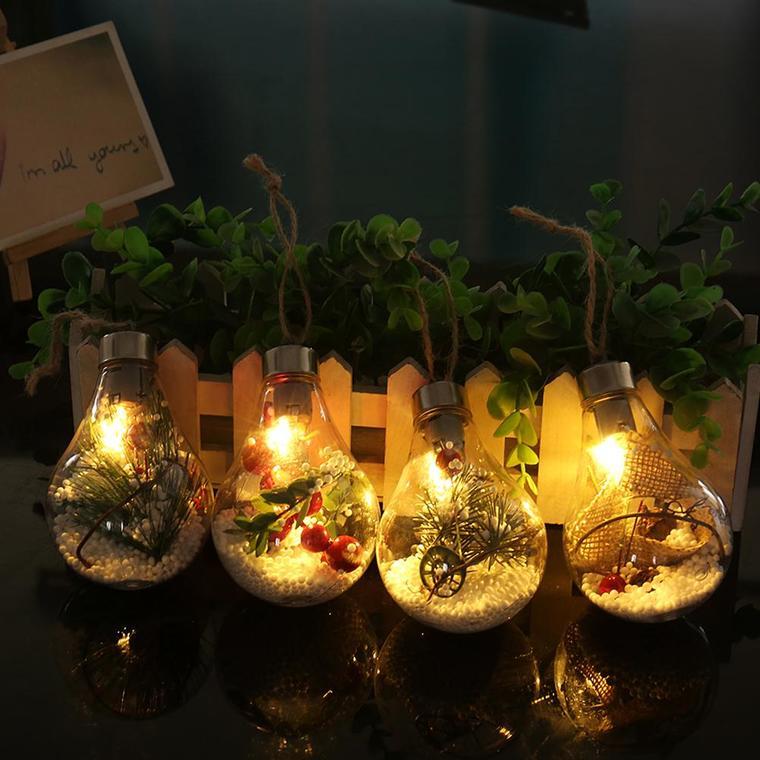 iluminación navideña frasco