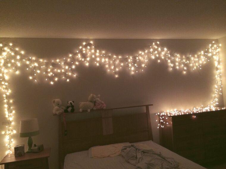 iluminación navideña habitacion