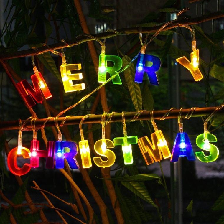 iluminación navideña letra