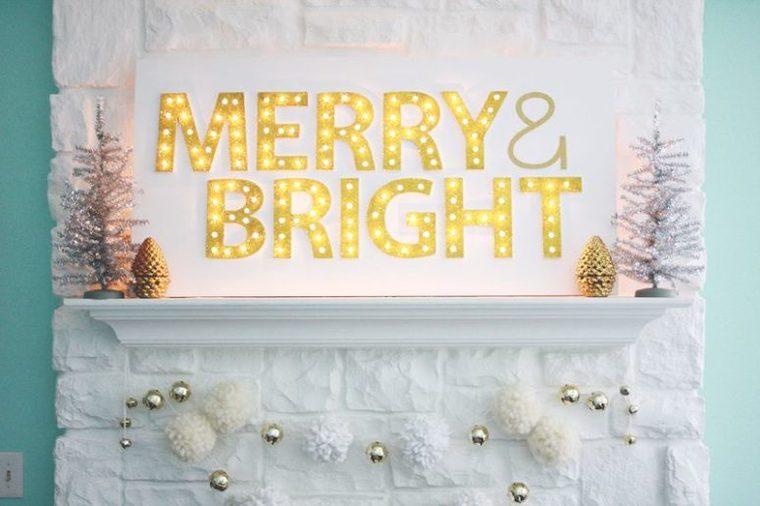 iluminación navideña letras