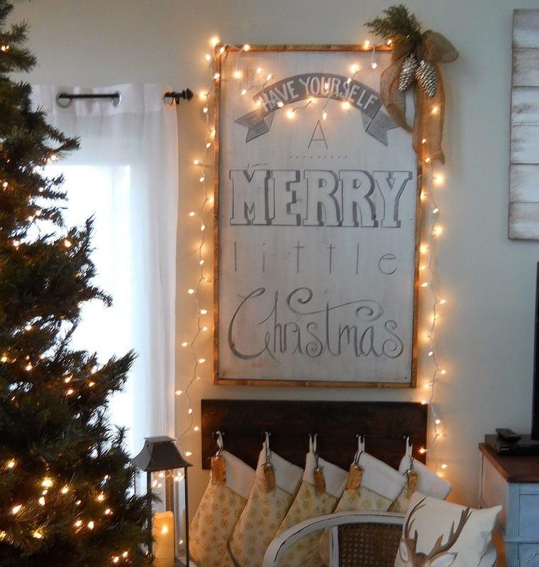 iluminación navideña marco