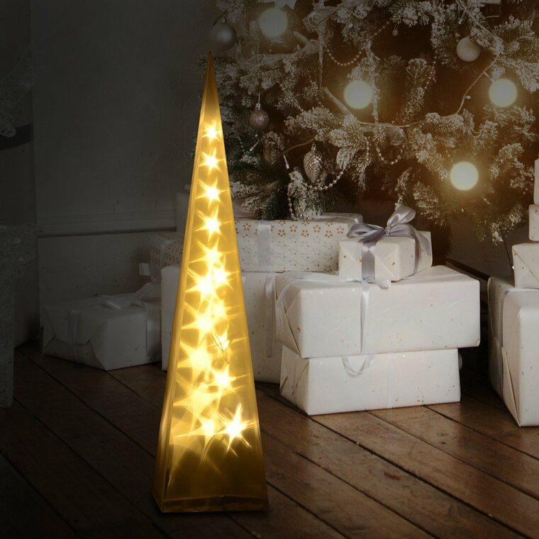 iluminación navideña piramide