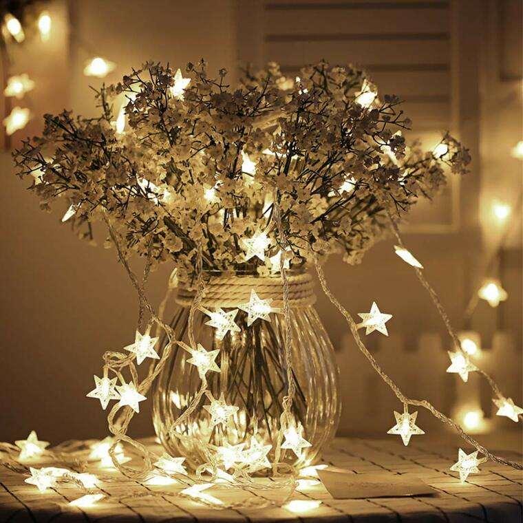 iluminación navideña rama
