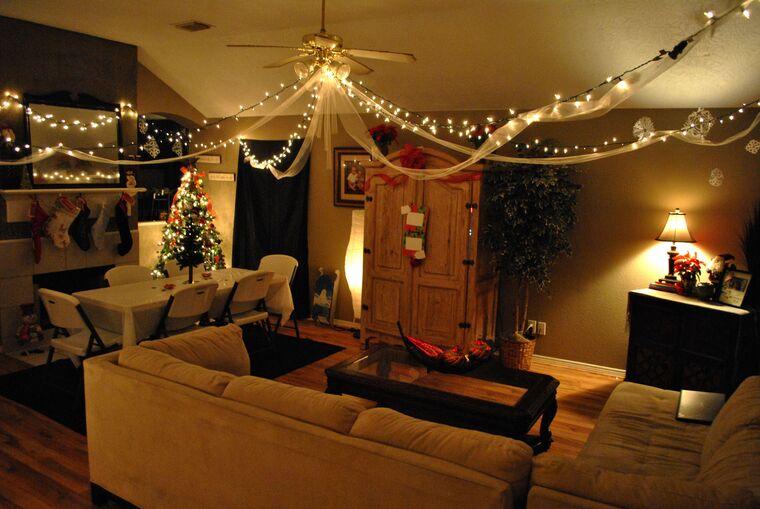 iluminación navideña sala