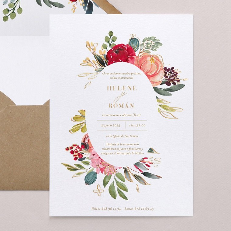 invitaciones de boda originales-flores-detalle