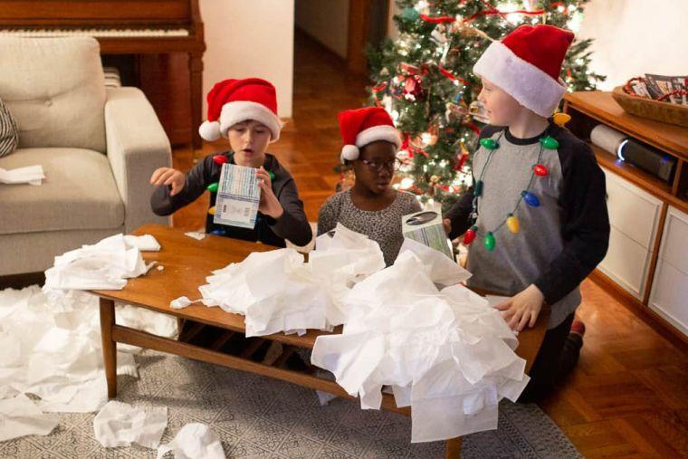 juegos de navidad papel