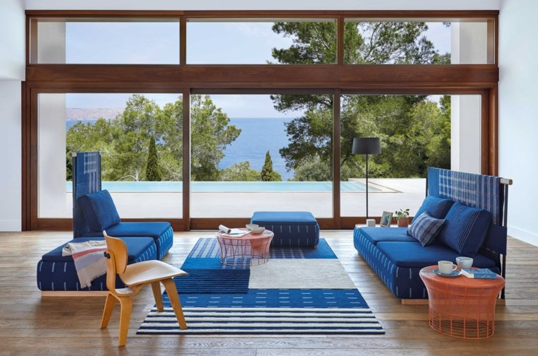 sofa-diseno-color-azul-Gandia-Blasco