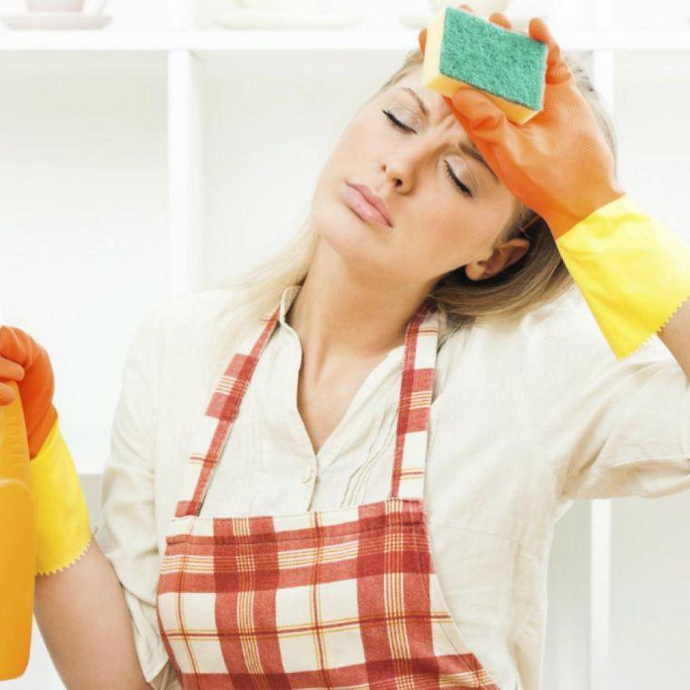 tareas del hogar cansada