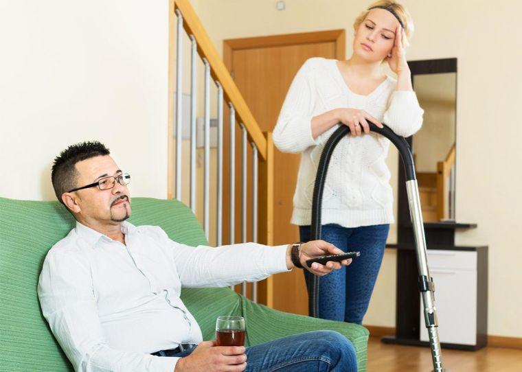tareas del hogar desepcionada