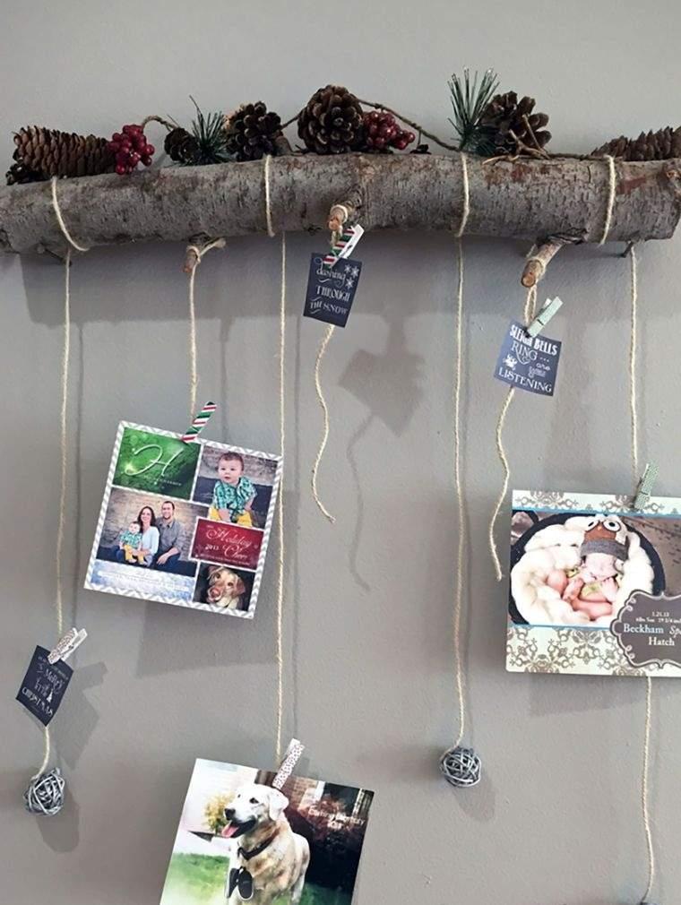 tarjetas de navidad colgado