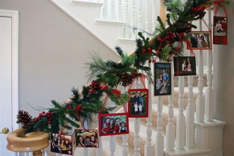 tarjetas de navidad escalera