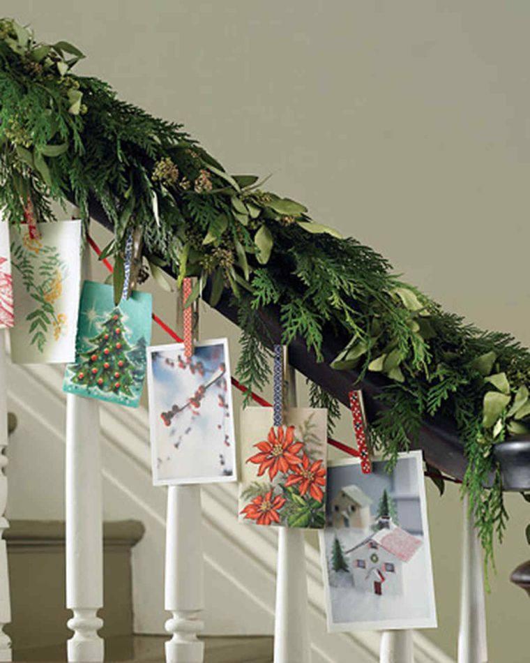 tarjetas de navidad escaleras