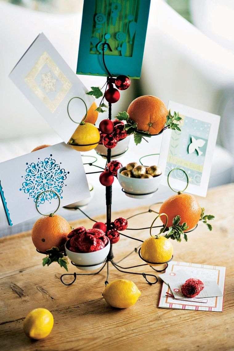 tarjetas de navidad frutas