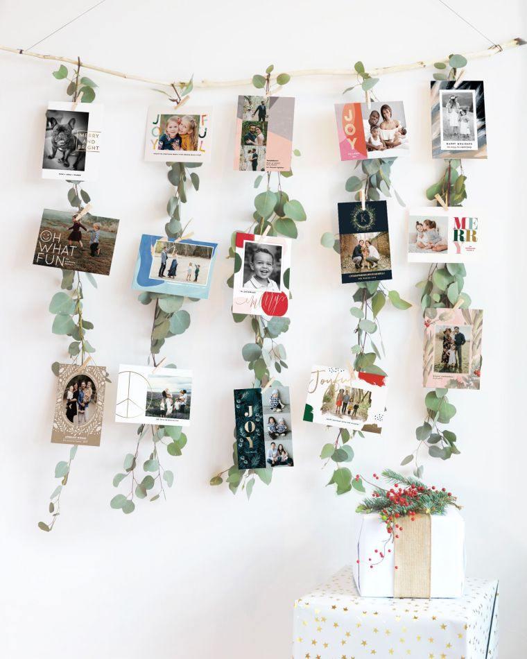 tarjetas de navidad hojas