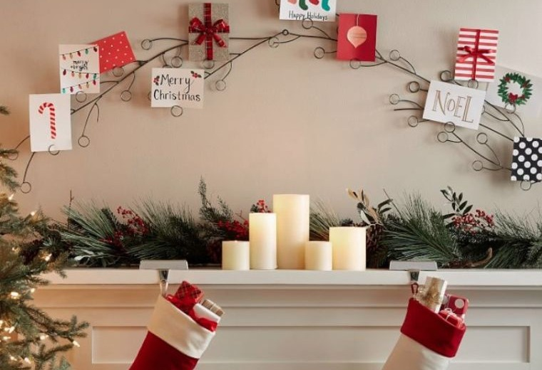tarjetas de navidad pared