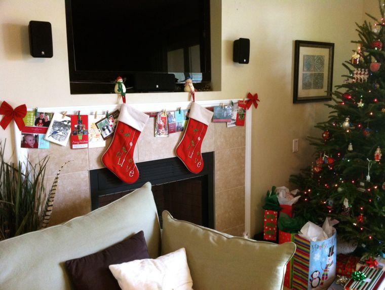 tarjetas de navidad repisa