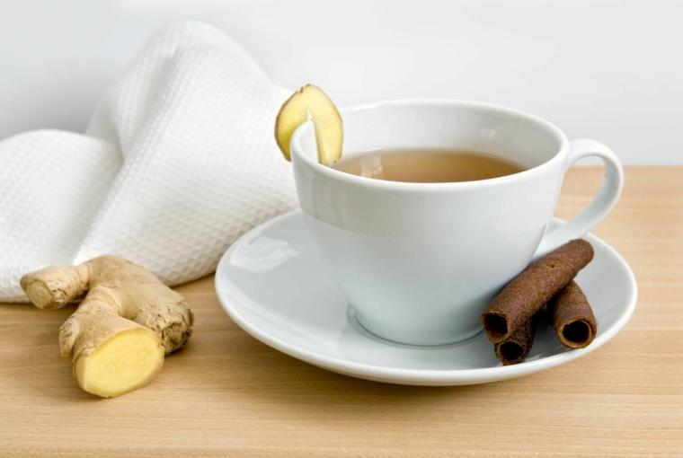 tés de desintoxicación jengibre