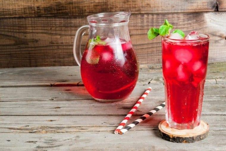 té de desintoxicación rosa