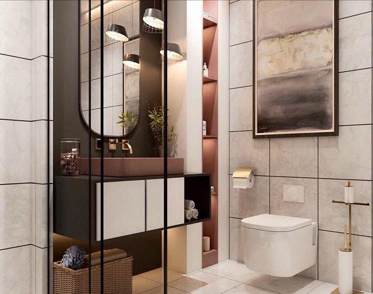 tendencias baños 2020-ducha-cristal