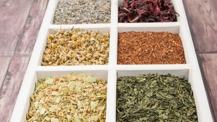variedad de tés