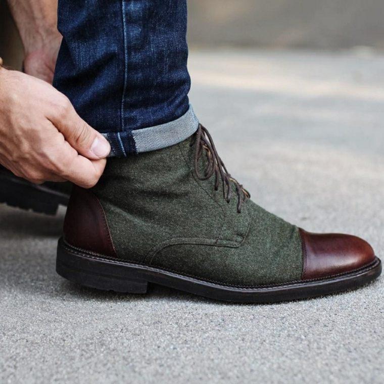 zapatos-2020-verde-piel-marone