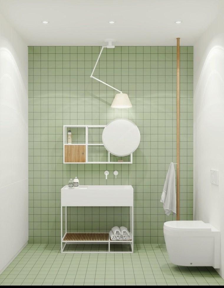 bano-color-verde-claro-estilo-lamparas-blancas