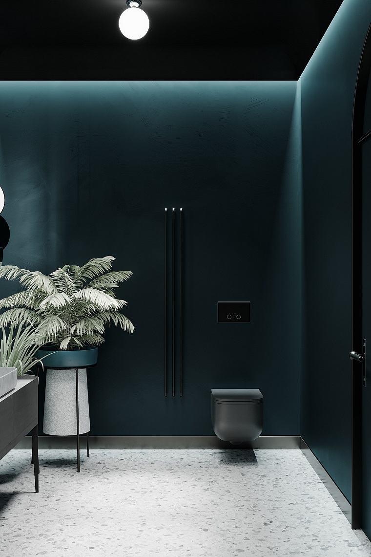 bano-negro-ideas-iluminacion-techo-led