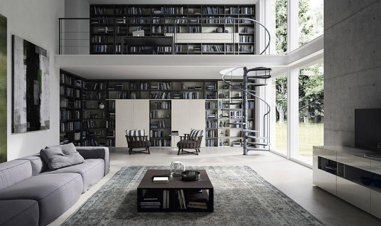biblioteca en casa altura